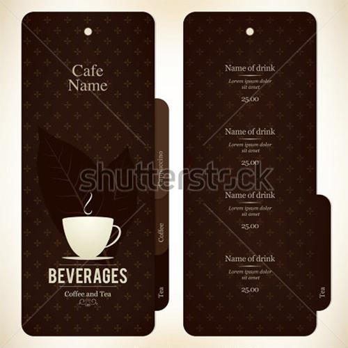 menu for restaurant cafe bar