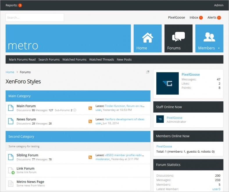 metro xenforo responsive retina ready theme 788x663
