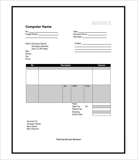 microsoft invoice template 36 free word excel pdf documents download free premium templates. Black Bedroom Furniture Sets. Home Design Ideas