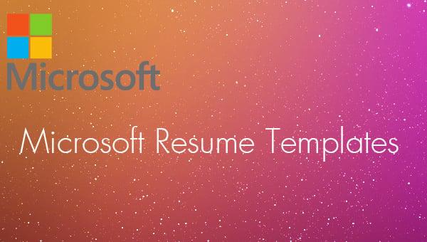 14  microsoft resume templates