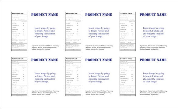 18 Microsoft Label Templates Free Word Excel Documents – Packing Label Template