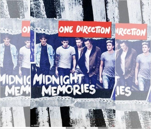 mid night memories music poster