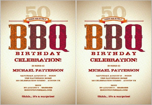 Birthday Barbeque Invitations