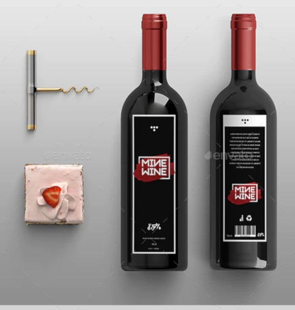 mine wine label template