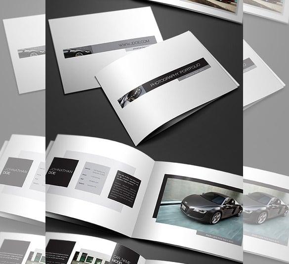 minimal portfolio brochure template