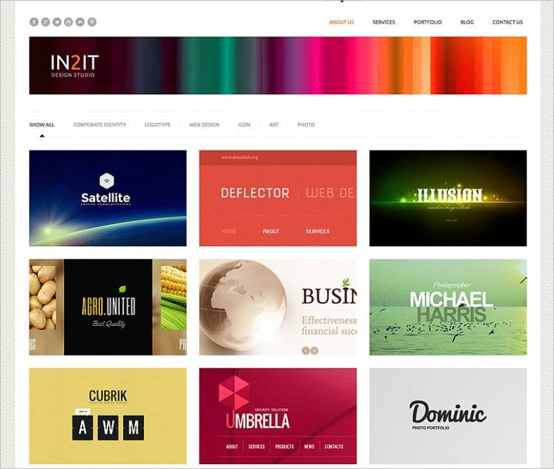 minimalism design studio wordpress theme 788x667