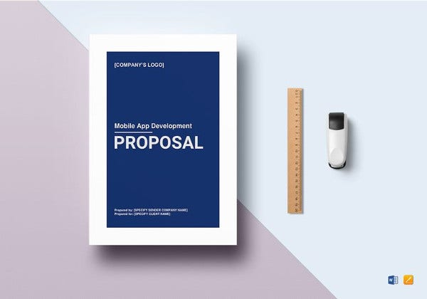mobile app development proposal word template