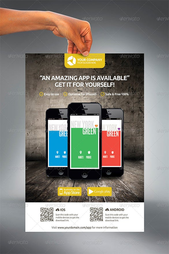 mobile app promotion flyers
