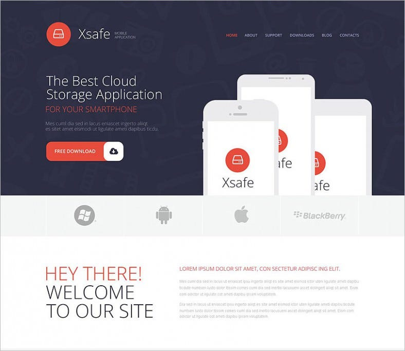 mobile app store wordpress theme 788x683