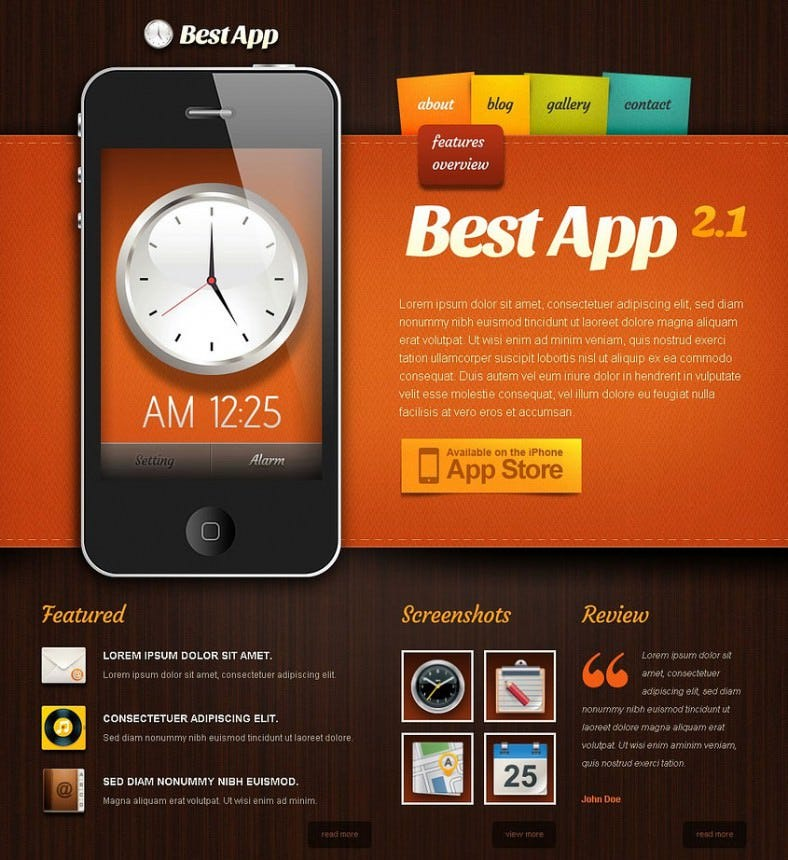 mobile apps drupal template 788x860