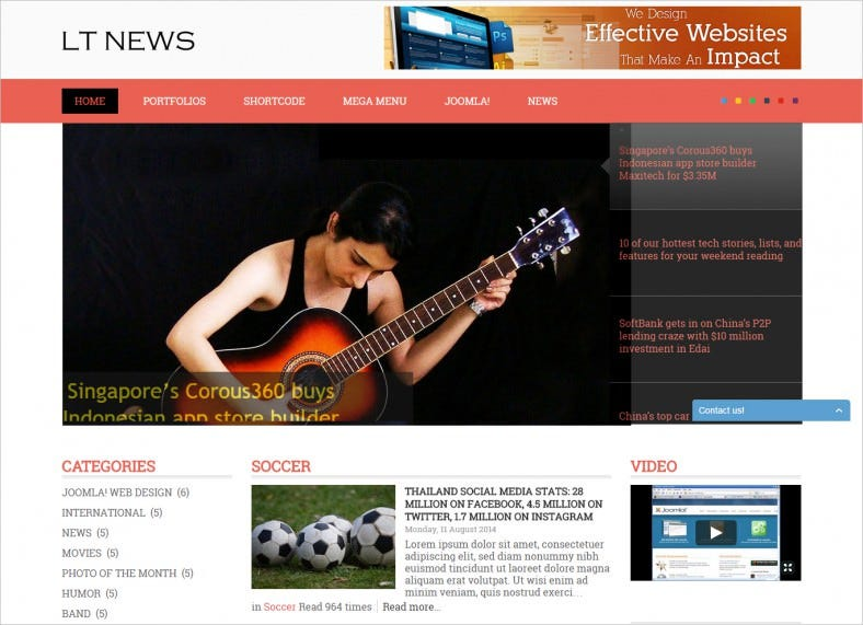 Mobile Responsive News Joomla Template