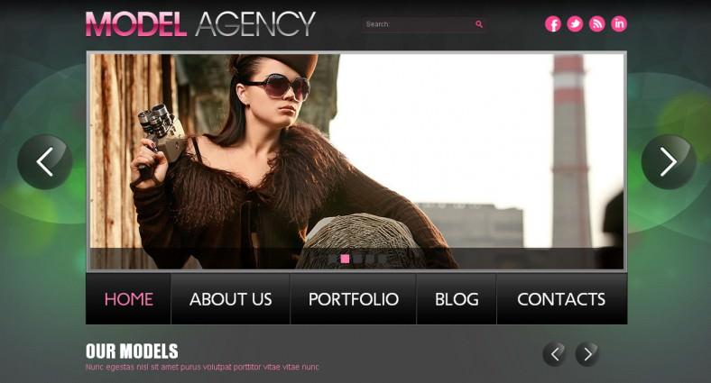 model agency joomla template 788x425