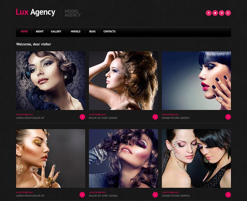 model agency responsive joomla template 2