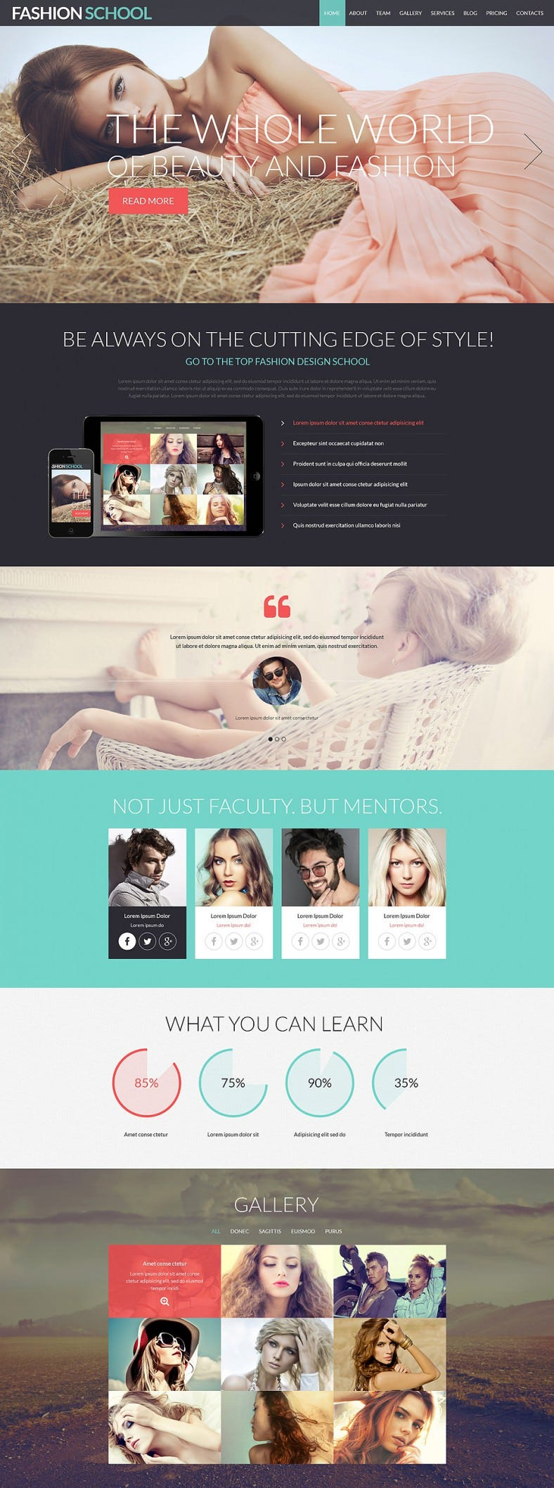 model agency responsive joomla template 788x2115