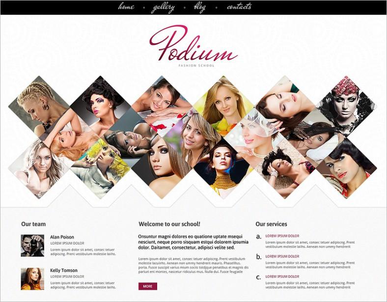 model agency for originality joomla template 788x615