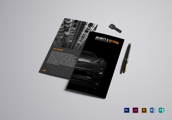 modern car brochure template