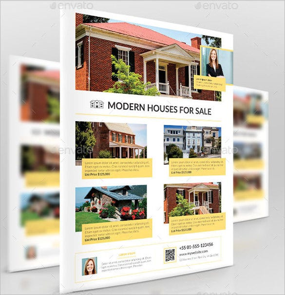 Modern House For Sale Flyer U2013 $6  Home Sale Flyer Template