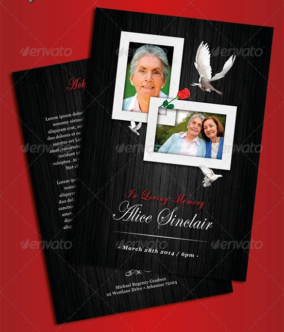 modern psd obituary template