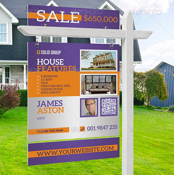 modern real estate yard signage garage sale flyer ideas