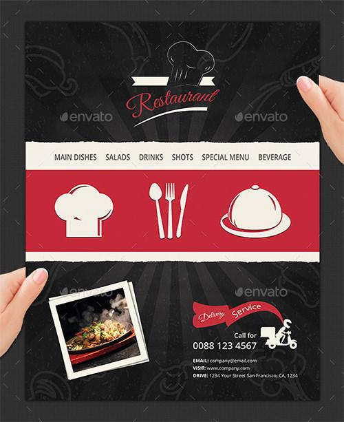 modern restaurant and food menu template