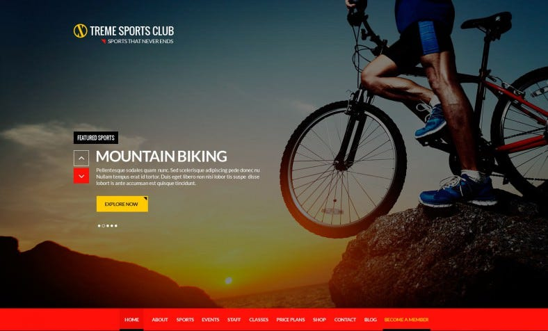 Modern Sports Club PSD Template