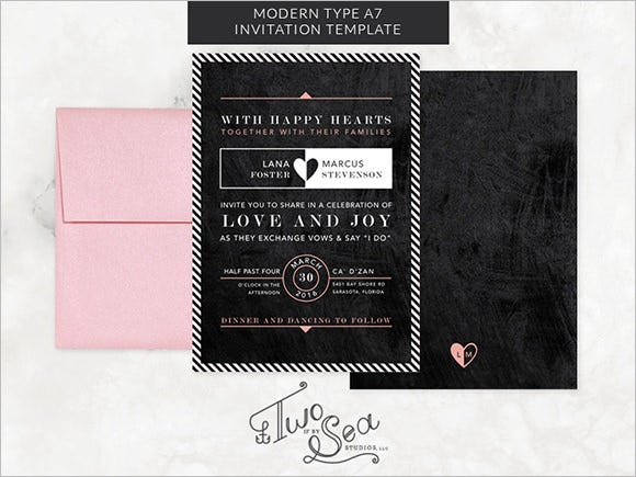 modern type chalkboard invitation template