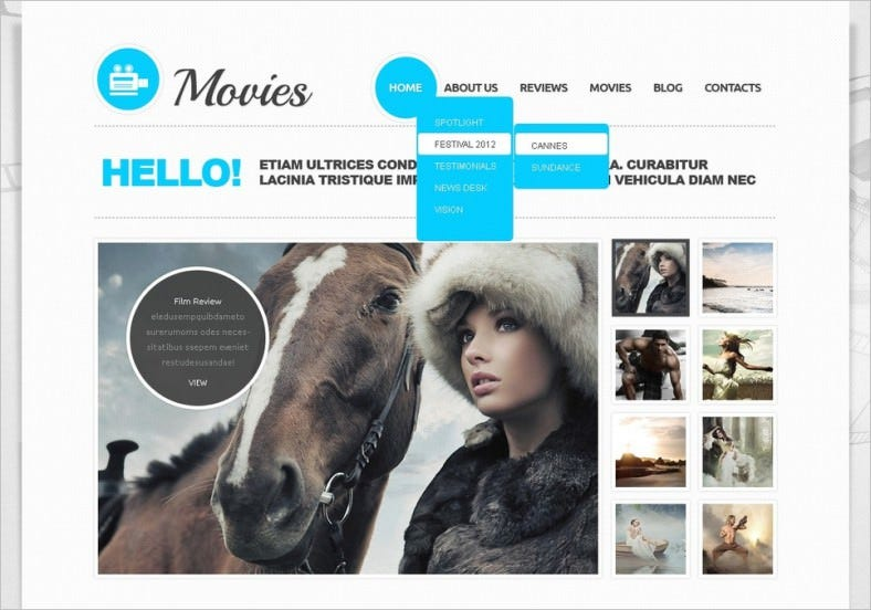 movie joomla template 788x552