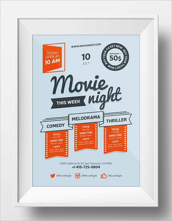 movie poster templates free download