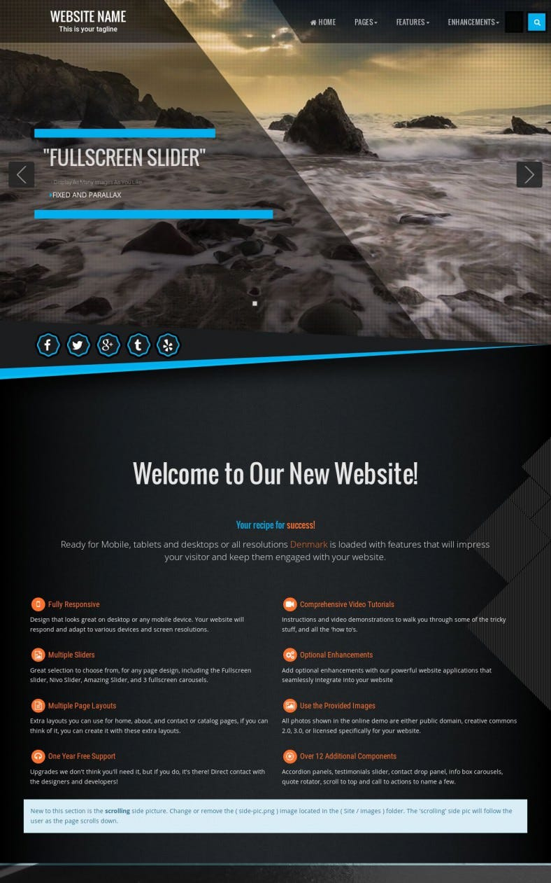 multi purpose expression web template 788x1261