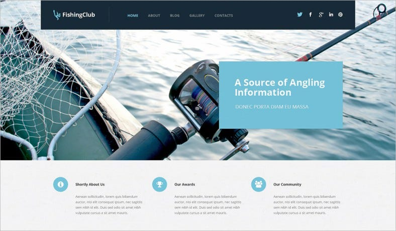 Multiple Color Option Responsive Fishing Wp Template