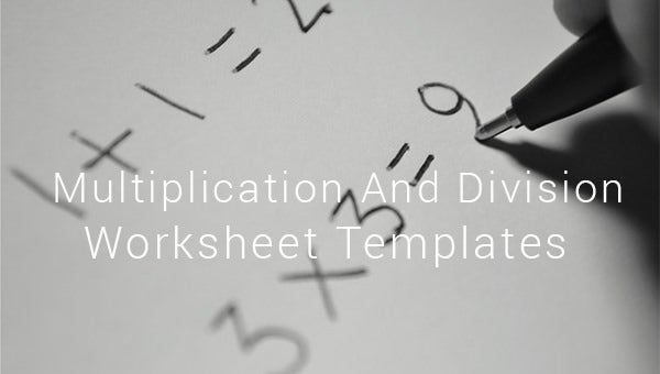 multiplication and division worksheet templates