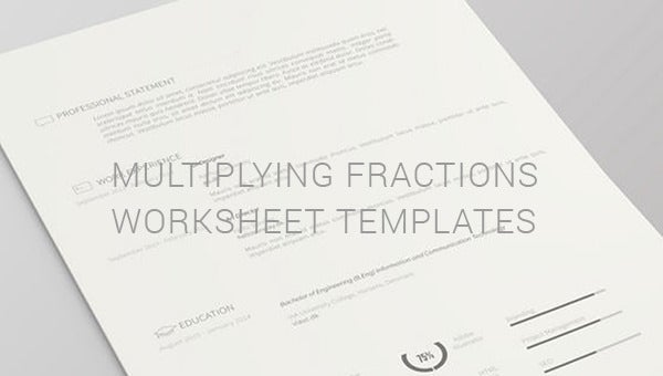 multiplying fractions worksheets templates