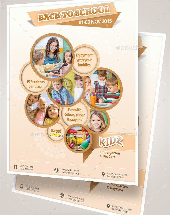 Daycare Flyer Template   Free Psd Ai Vector Eps Format
