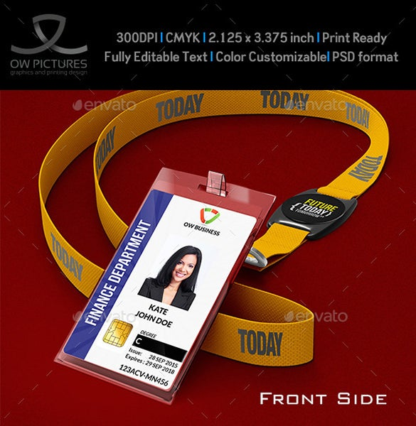 ID Card Templates Free PSD Documents Download Free Premium - Card template free: employee id card template