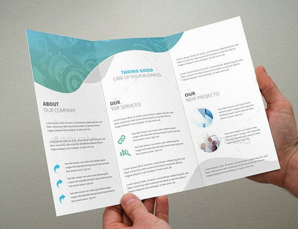 Multipurpose Triple Folded Brochure Fold Template