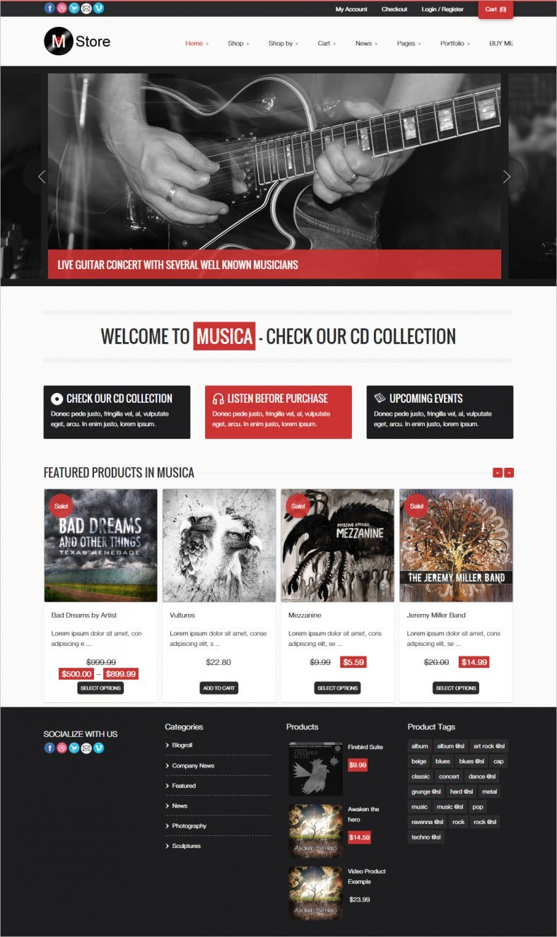 11 Awesome Music Store Woocommerce Themes Templates Free