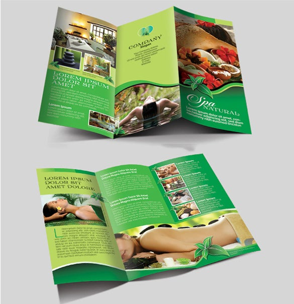 natural spa brochure template download