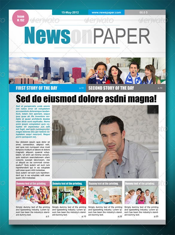 News On Paper Indesign Newspaper Layout Template