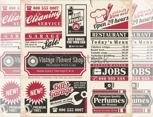 Newspaper Ad Template Vintage Newspaper Flyer Template Flyer