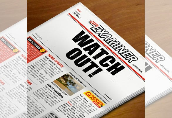 newspaper headline template on wood1