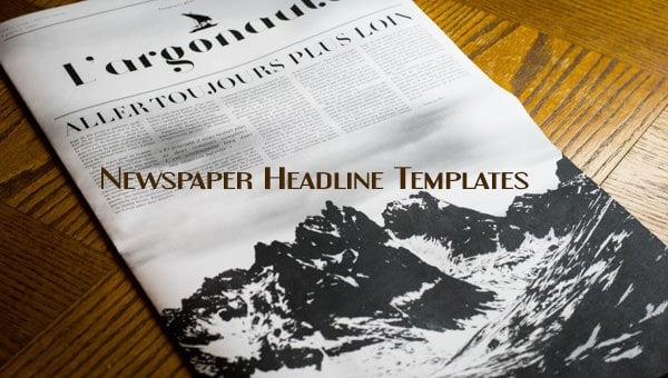 newspaperheadlinetemplate