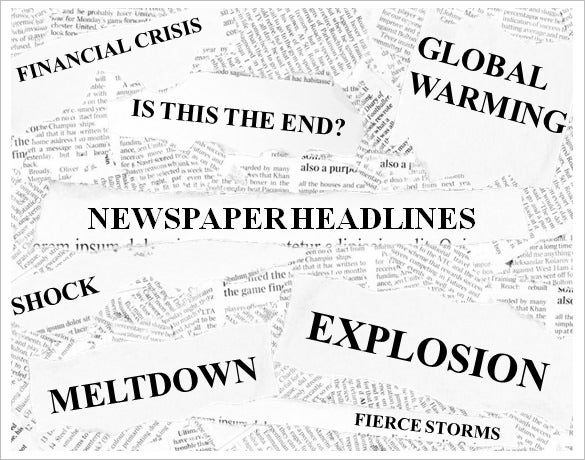 newspaper headlines template powerpoint presentation