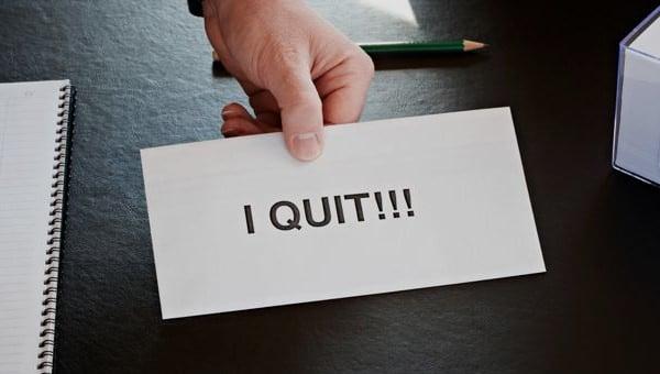 notice of resignation template