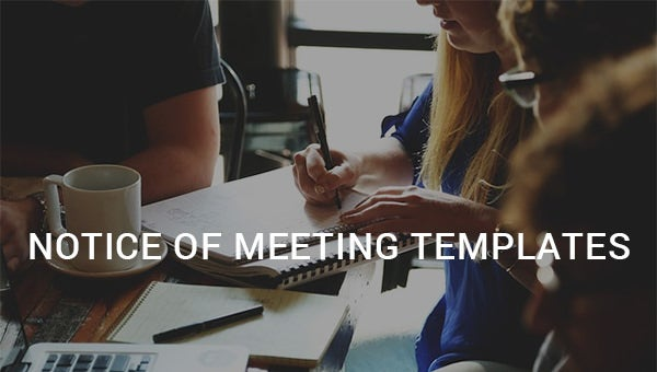notice of meeting templates