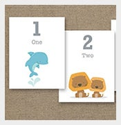 Number-Animal-Flash-Card