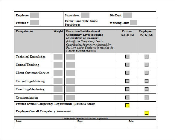 nurse practitioner worksheet template