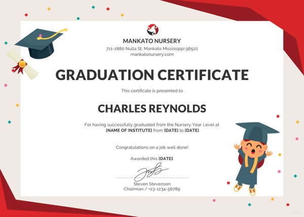 Graduation Certificate Templates  Word Pdf Documents Download
