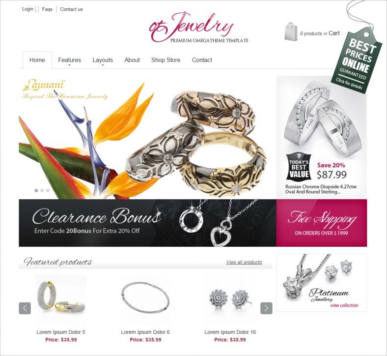 ot jewelry jewelry store joomla template 788x724