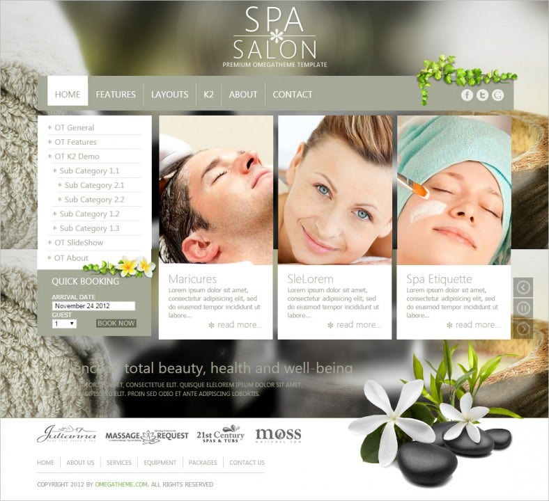ot spasalon free spa salon business joomla template 788x720