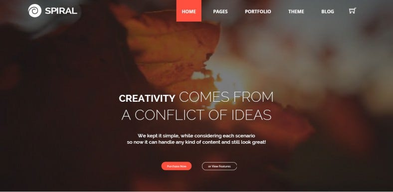 Off Screen Scrolling Multipurpose WordPress Template